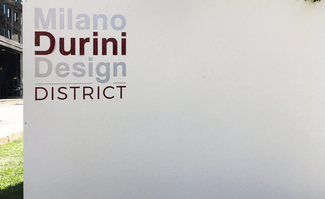 LUNGO LA 'WALKS OF DESIGN' DI VIA DURINI