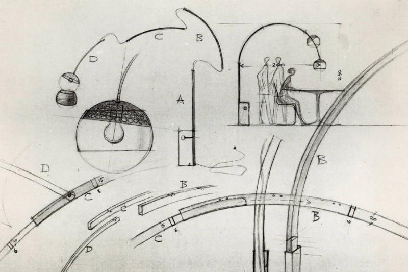 Icone di design lampada arco u designtellers