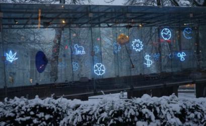 Tschumipavilijoen: arte e design alla fermata del bus